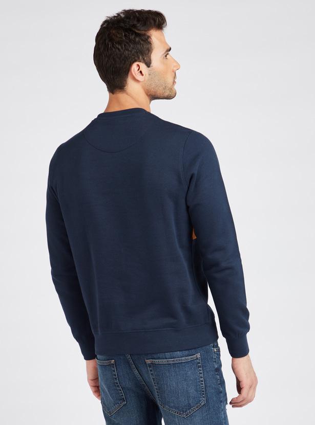Cut and Sew Embossed Sweatshirt