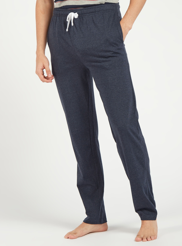 Textured Full Length Pyjamas with Pockets and Drawstring Closure