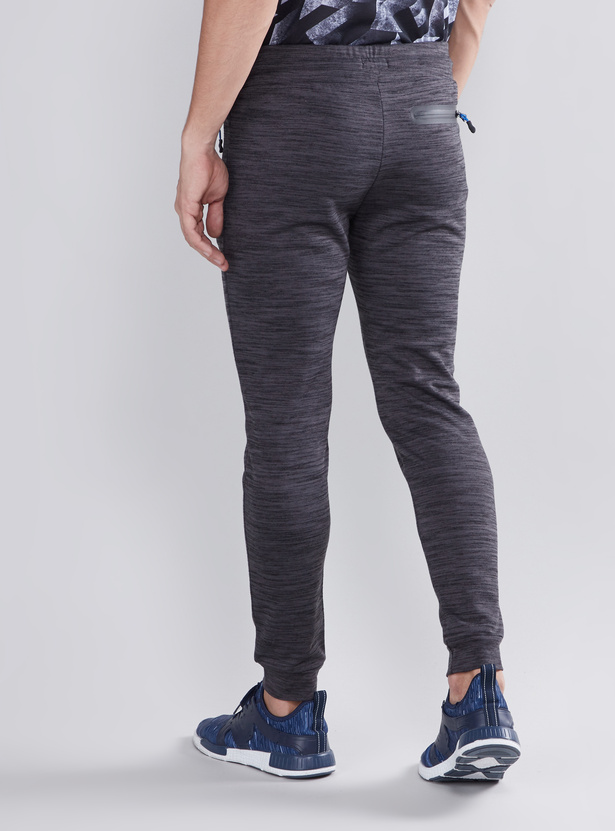 Textured Joggers with Drawstring Waistband