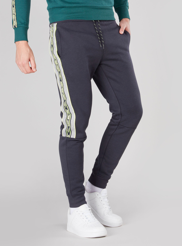 Panelled Jog Pants with Pocket Detail and Drawstring