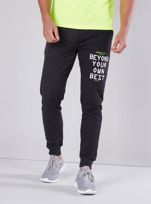 Slim Fit Printed Jog Pants with Elasticised Waistband