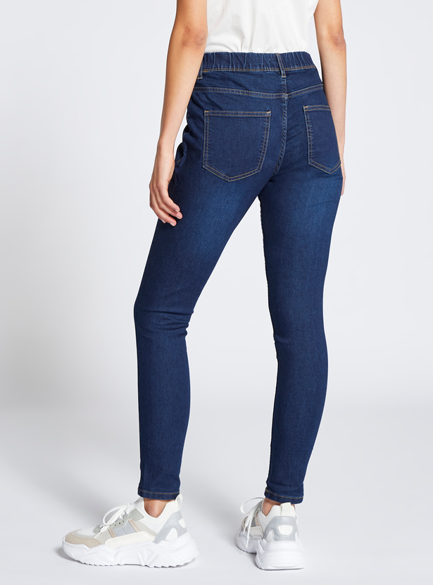 Full Length Skinny Jeggings with Elasticised Waistband
