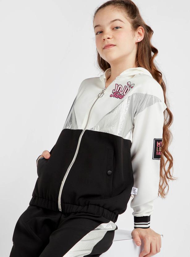JoJo Siwa Print Jacket with Long Sleeves and Hood