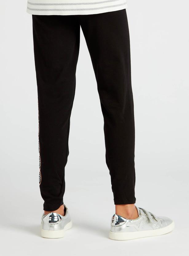 Printed Full-Length Leggings with Elasticated Waistband