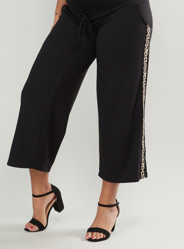 Maternity Mid-Rise Palazzo Pants with Pocket Detail