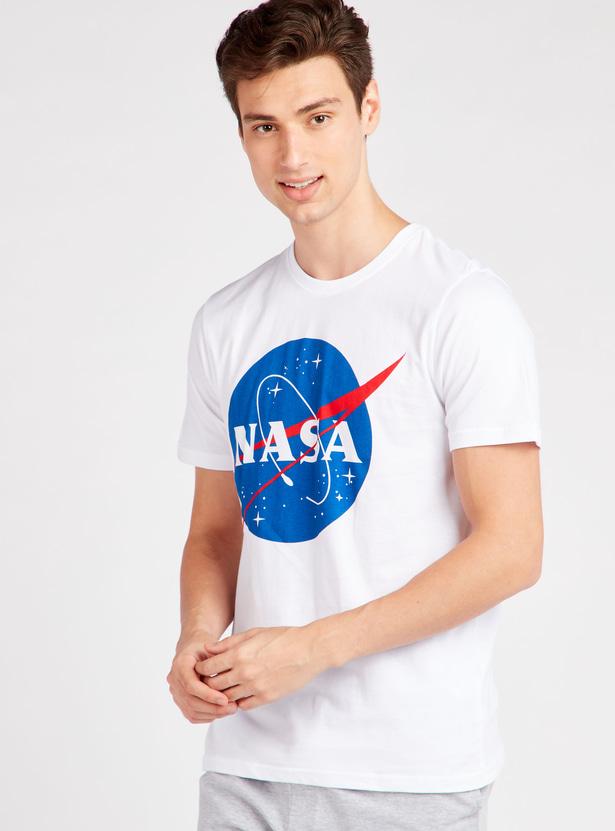 NASA Print Short Sleeves T-shirt and Pyjama Set