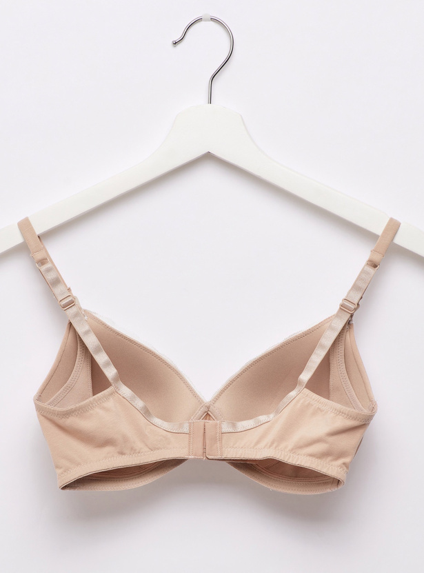 Padded Nursing Bra with Adjustable Straps and Lace Detail