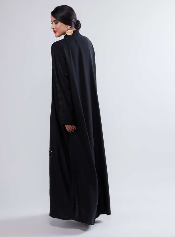 Pearl Detailed Abaya with Full Sleeves
