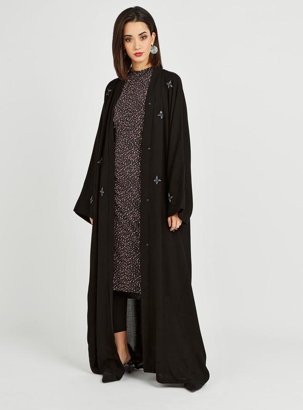 Embellished Full Length Abaya with Long Sleeves