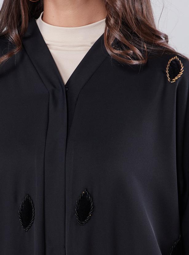 Full Length Embellished Abaya with Long Sleeves