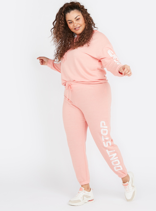 Printed Mid-Rise Jog Pants with Elasticised Waistband
