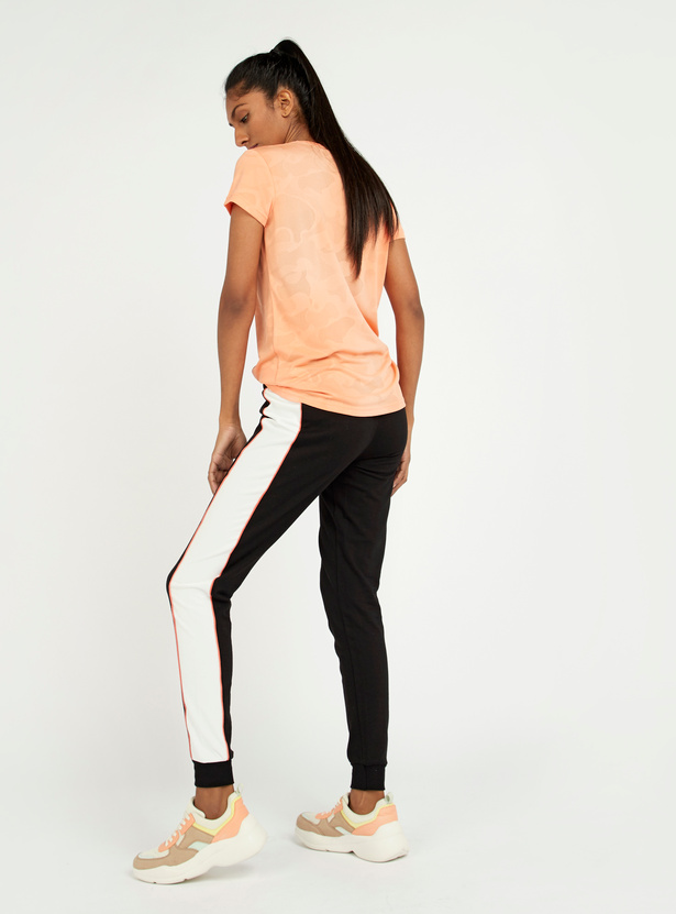 Full Length Jog Pants with Side Tape Detail and Drawstring
