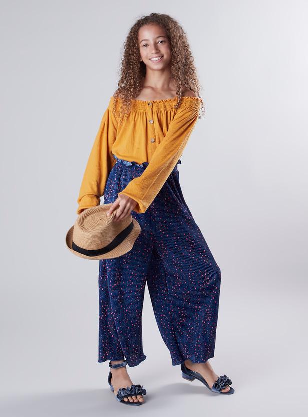Printed Pants with Drawstring
