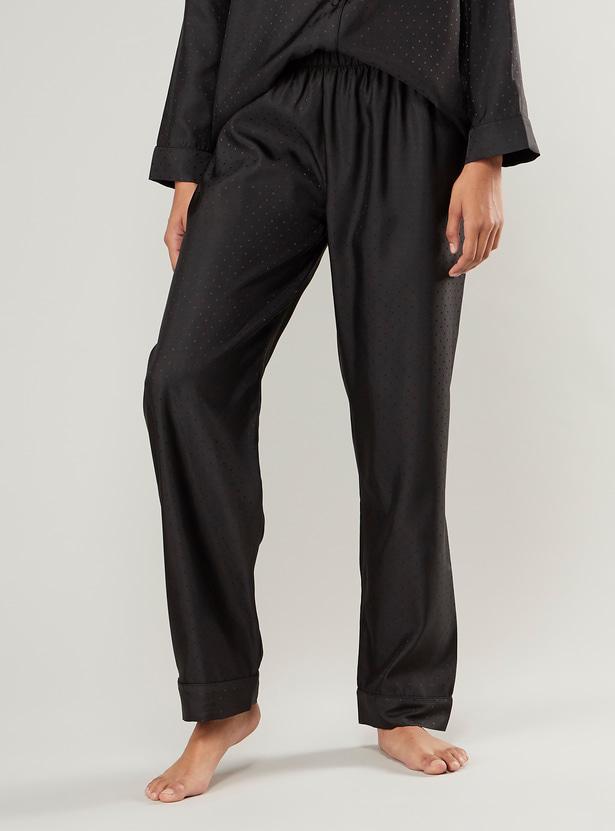 Printed Lapel Collared Shirt and Pyjama Set
