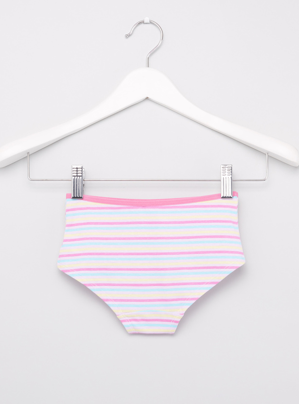 Set of 2 - Printed Briefs with Elasticated Waistband