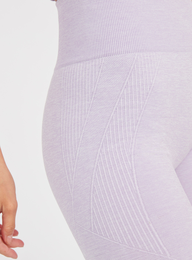 Slim Fit Solid Leggings with Elasticised Waistband