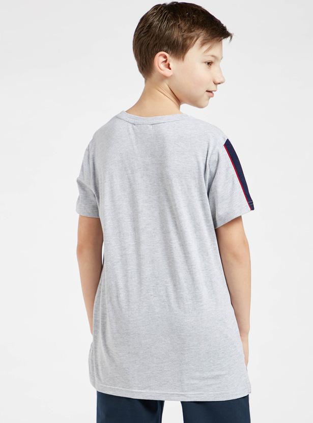Spider-Man Print Round Neck T-shirt with Short Sleeves