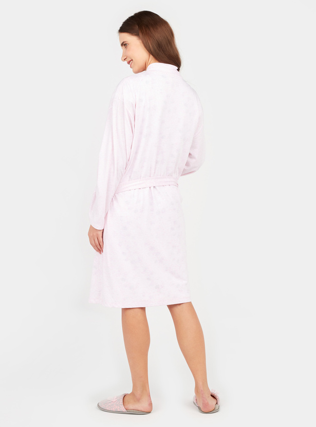 Maternity Printed Sleep Dress with Robe