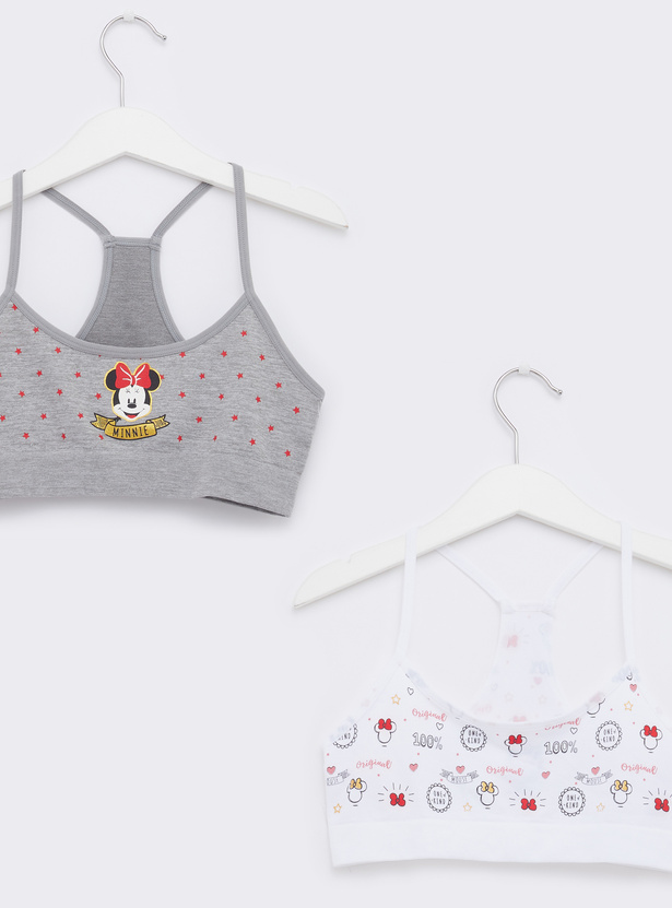 Set of 2 - Minnie Mouse Print Seamless Bra with Racerback
