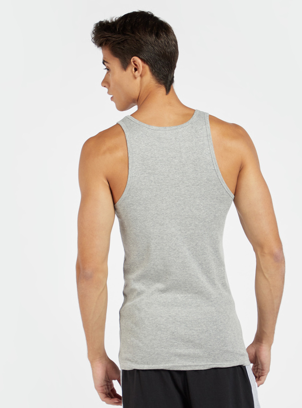 Pack of 2 - Solid Sleeveless Vest with Round Neck