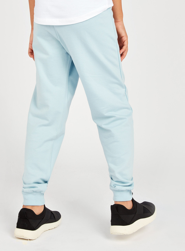 Frozen Elsa Print Jog Pants with Pockets and Drawstring