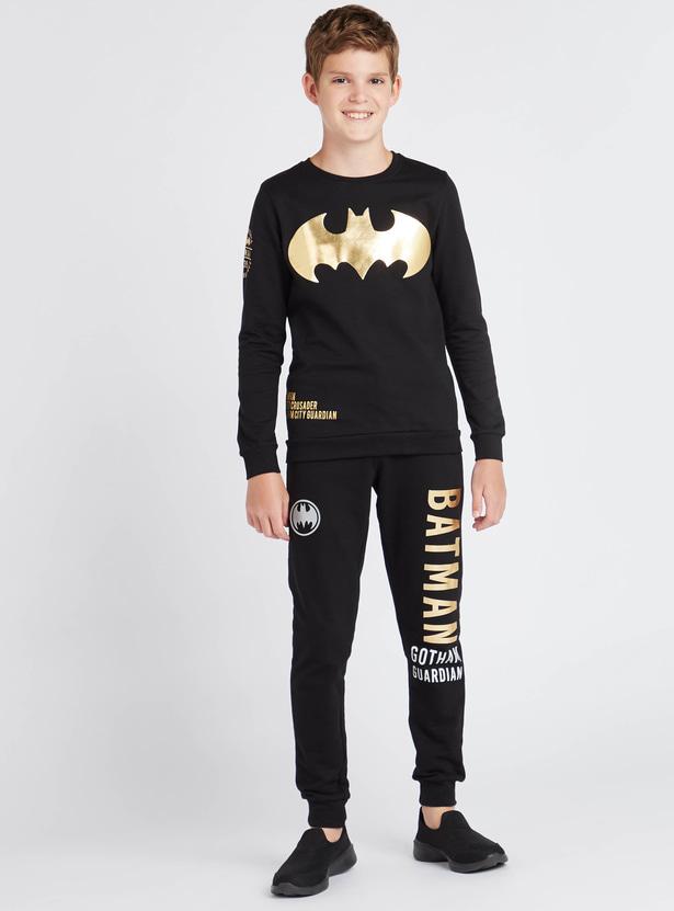 Batman Print Joggers with Drawstring Closure