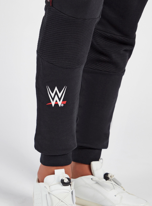 WWE Print Full Length Joggers with Drawstring Closure and Pockets
