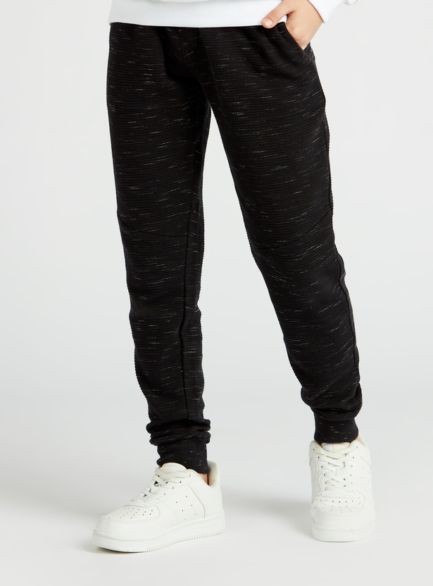 Printed Joggers with Pockets and Drawstring Closure