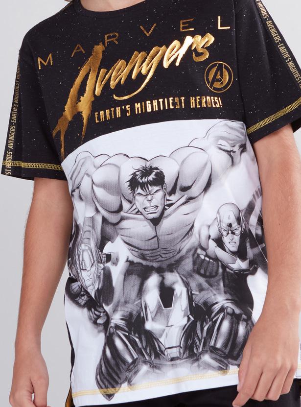 Avengers Printed Round Neck Short Sleeves T-Shirt