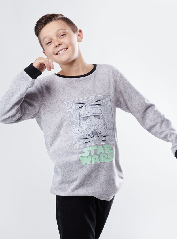Cozy Collection Star Wars Print T-shirt with Full Length Jog Pants