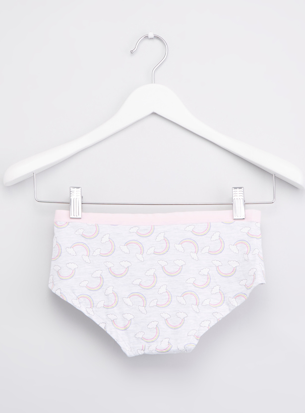 Set of 5 - Printed Briefs with Elasticised Waistband