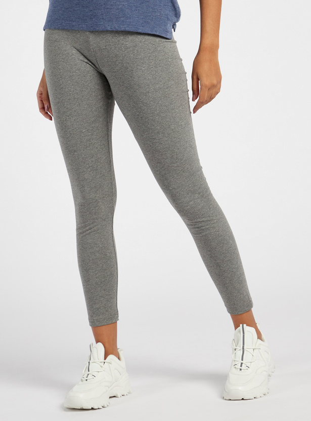 Ankle Length Solid Anti-Pilling Leggings with Elasticised Waistband