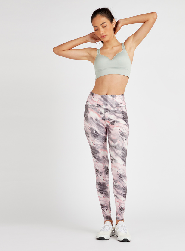 Solid High Support Moulded Crop Top with Multiway Straps