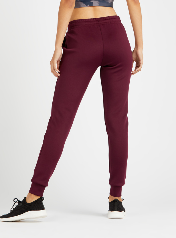 Full Length Solid Jog Pants with Elasticated Drawstring Waistband
