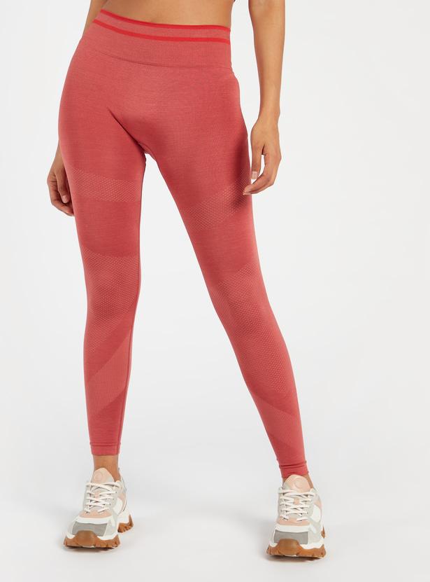 Full Length Seamless Leggings with Elasticated Waistband