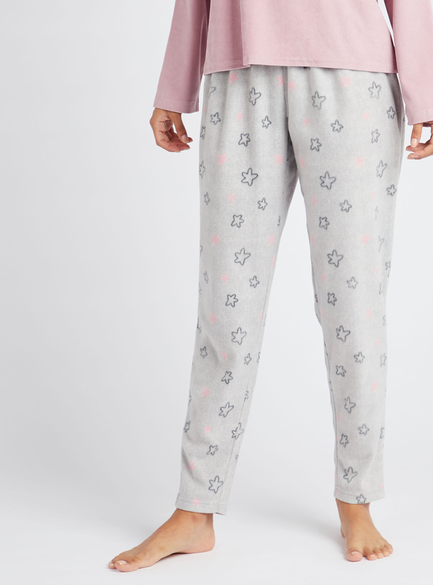 Cozy Collection Star Print Pyjamas with Elasticated Waistband