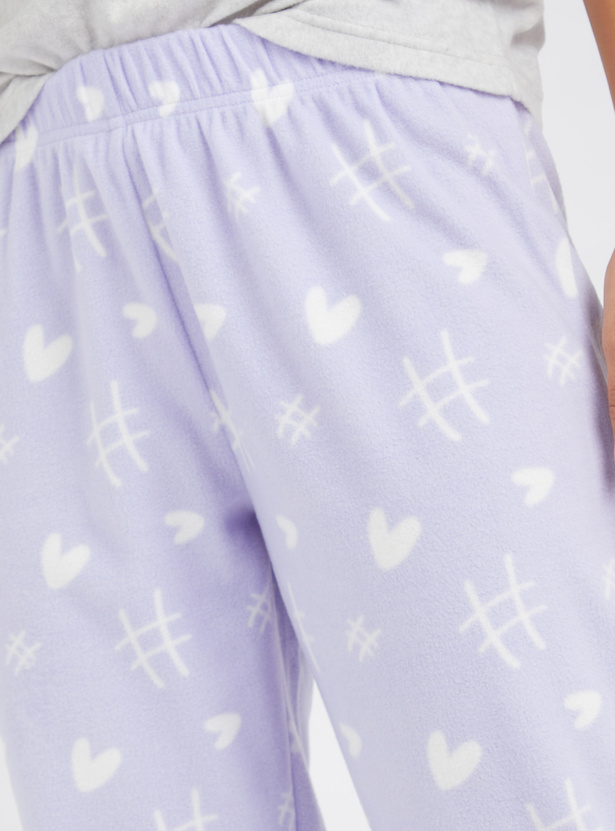 Cozy Collection Full Length Printed Pyjamas with Elasticated Waistband