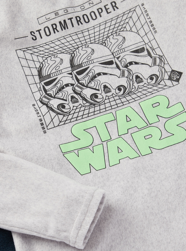 Cozy Collection Star Wars Print Long Sleeves T-shirt and Pyjama Set