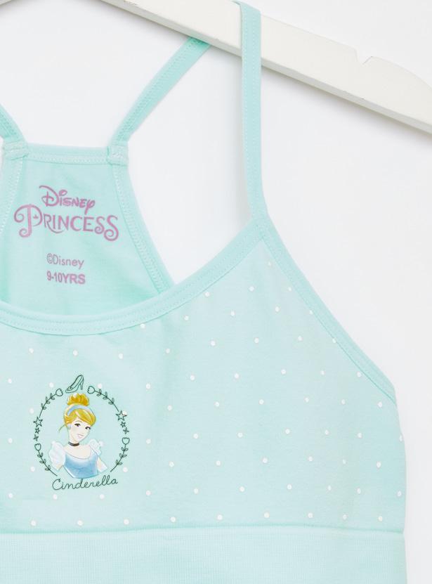 Set of 2 - Princess Print Seamless Bra with Elasticised Hem