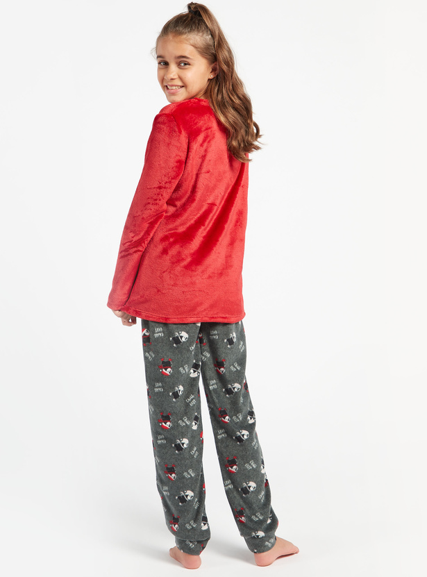 Cozy Collection Long Sleeves T-shirt and Full Length Pyjama Set