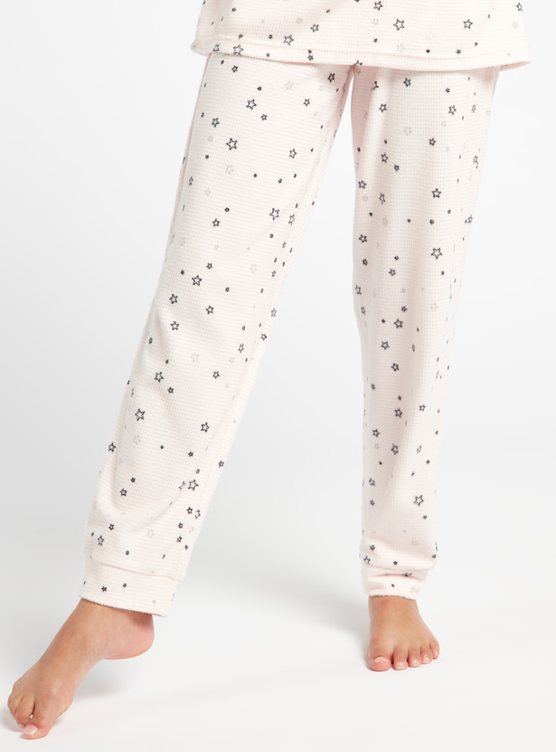 Cozy Collection All-Over Star Print T-shirt and Full Length Pyjama Set