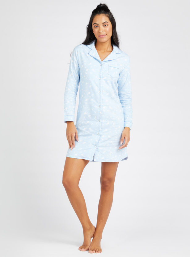 Cozy Collection 3-Piece Printed Long Sleeves Sleepshirts with Pocket
